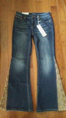 dentelle Womens Retro 9 66 Wrangler 34 magnifique Ladies Flare X Nouvelle Jeans fv4xgOwq