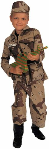 Details about  /Special Forces Military Soldier Desert Camo Fancy Dress Halloween Child Costume