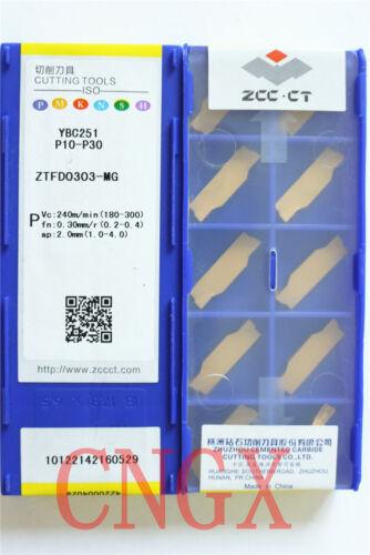 10pcs ZCC.CT ZTFD0303-MG YBC251 CNC Carbide Insert Blades