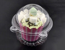 10X Clear Plastic Cupcake Cake Case Muffin Pod Dome Holder Container Owl