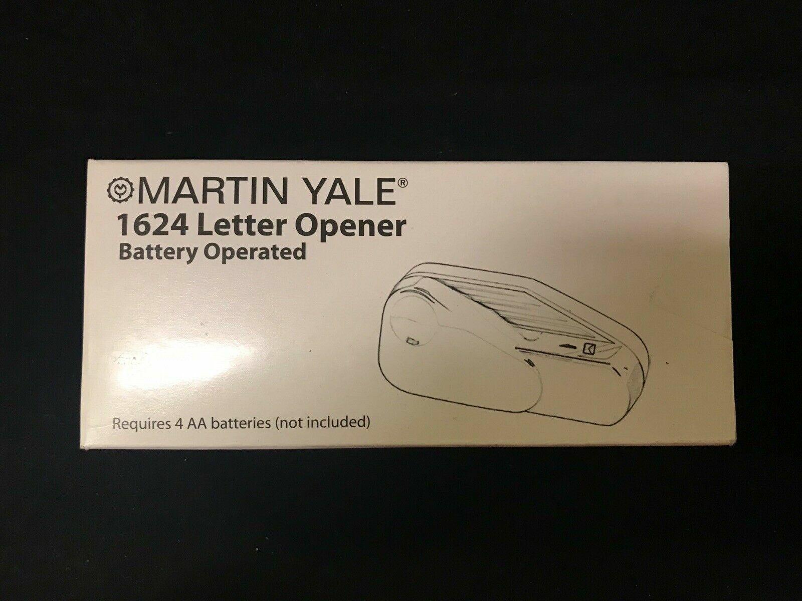 Martin Yale Model 1624 Handheld Battery Operated Letter Opener Black