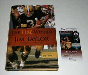 PACKERS-Jim-Taylor-signed-The-Fire-Within-Book-JSA-COA-AUTO-Autographed-2010