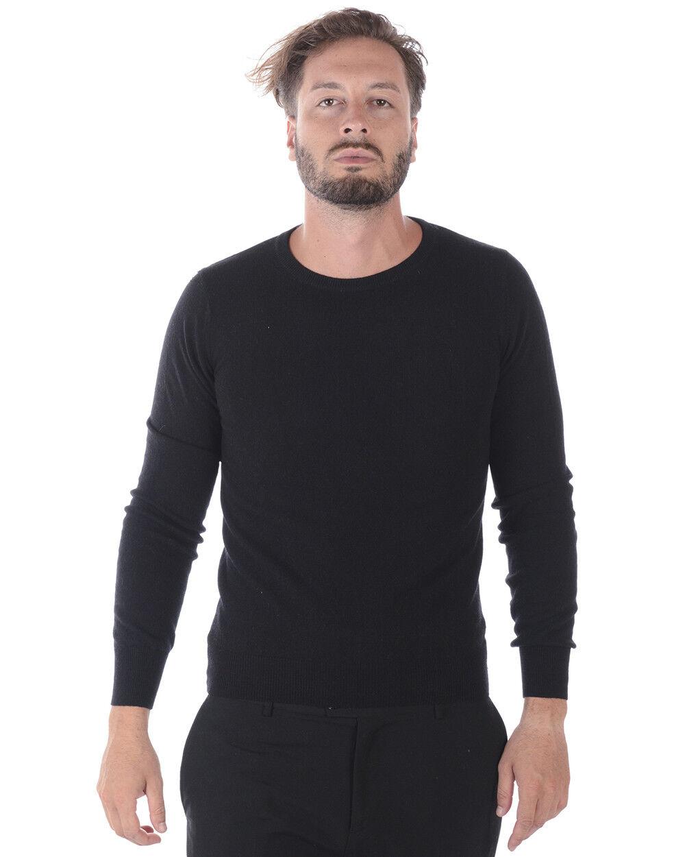 Maglia Maglione Daniele Alessandrini Sweater Lana ITALY men black FMC17113707 1