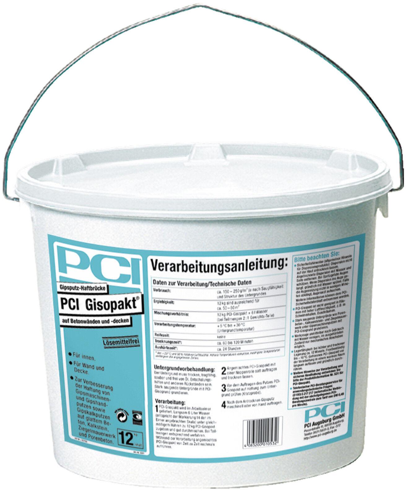 PCI Gisopakt 12 12 12 kg Verbessert die Haftung von Gipsputzen auf Beton Betokontakt 1a4261