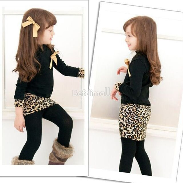 Girls Kids Long Sleeve Casual Shirt Dress Top Size 3-8 Years Clothes Costume