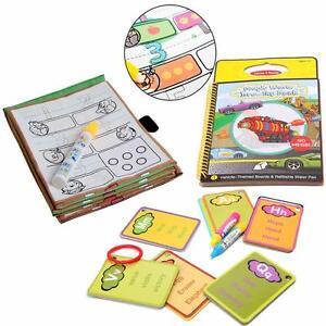 Water-Paint-Coloring-Book-Magic-Doodle-Drawing-Pen-Kids-Educational-Toy-LI