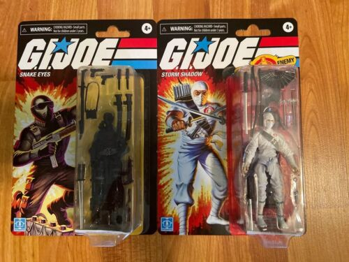 "Gi Joe Retro Collection Hasbro 3.75"" Snake Eyes Storm Shadow"