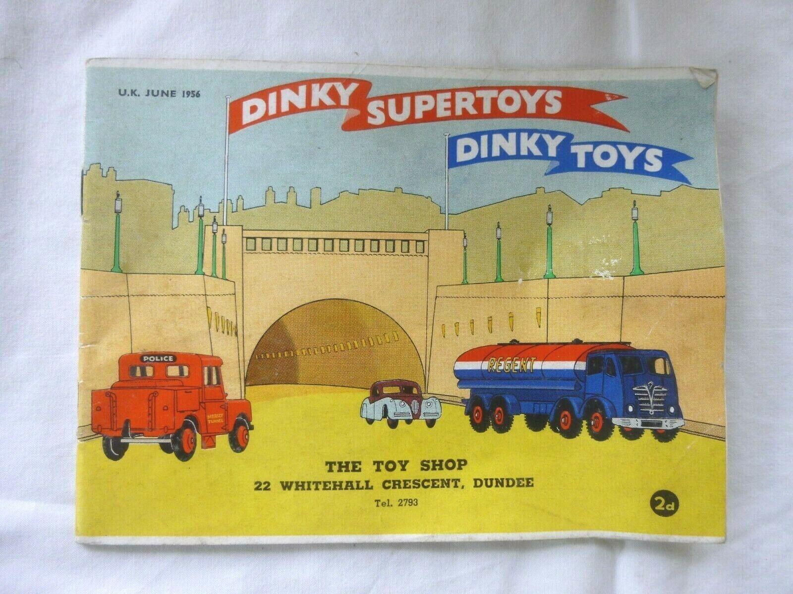 ORIGINAL DINKY & SUPERTOYS JUNE 1956 CATALOGUE [U.K. VERSION]