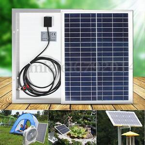 panneau solaire 20w 18v polycrystalline cellule diy camping batterie chargeur ebay. Black Bedroom Furniture Sets. Home Design Ideas