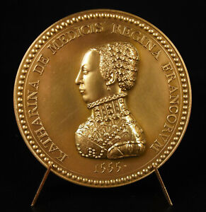 Medal-1970-Henri-II-and-Catherine-of-Medici-the-Husband-Royal-1555