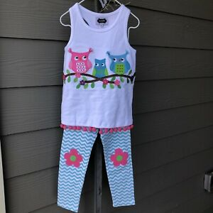 NWT Mud Pie Sequin Tunic and Legging Set Size 4T and Matching Tote