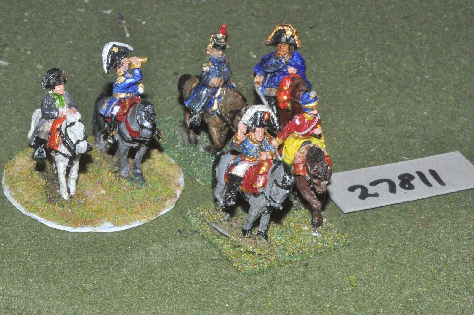 25mm napoleonic   french - 6 generals - command (27811)