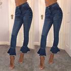 Women's Female High Waist Slim Skinny Jeans Stretch Pencil Denim Pants Trousers