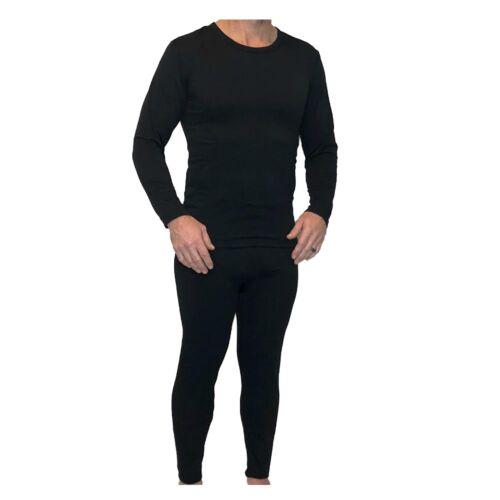 Z-TEX Ultra Soft Big Men Microfiber Fleece Lined Thermal Underwear Set with FLY