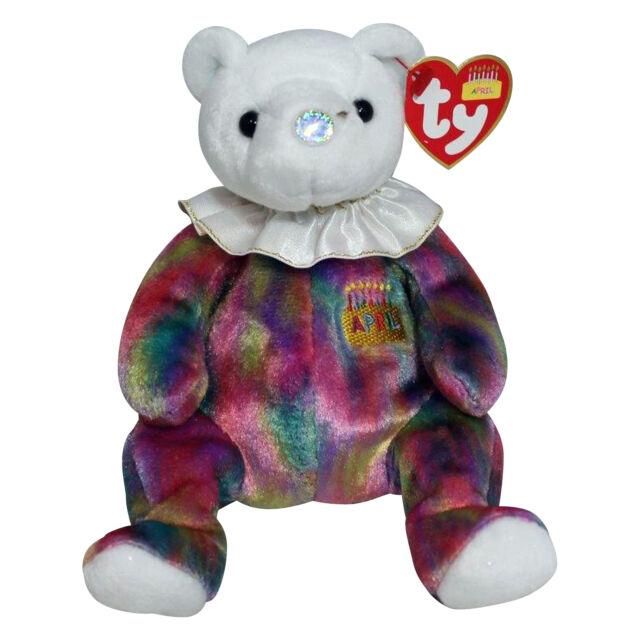 61f62d3cdeb Ty Beanie Babies Birthday Bear April Diamond Birthstone 2001 for ...