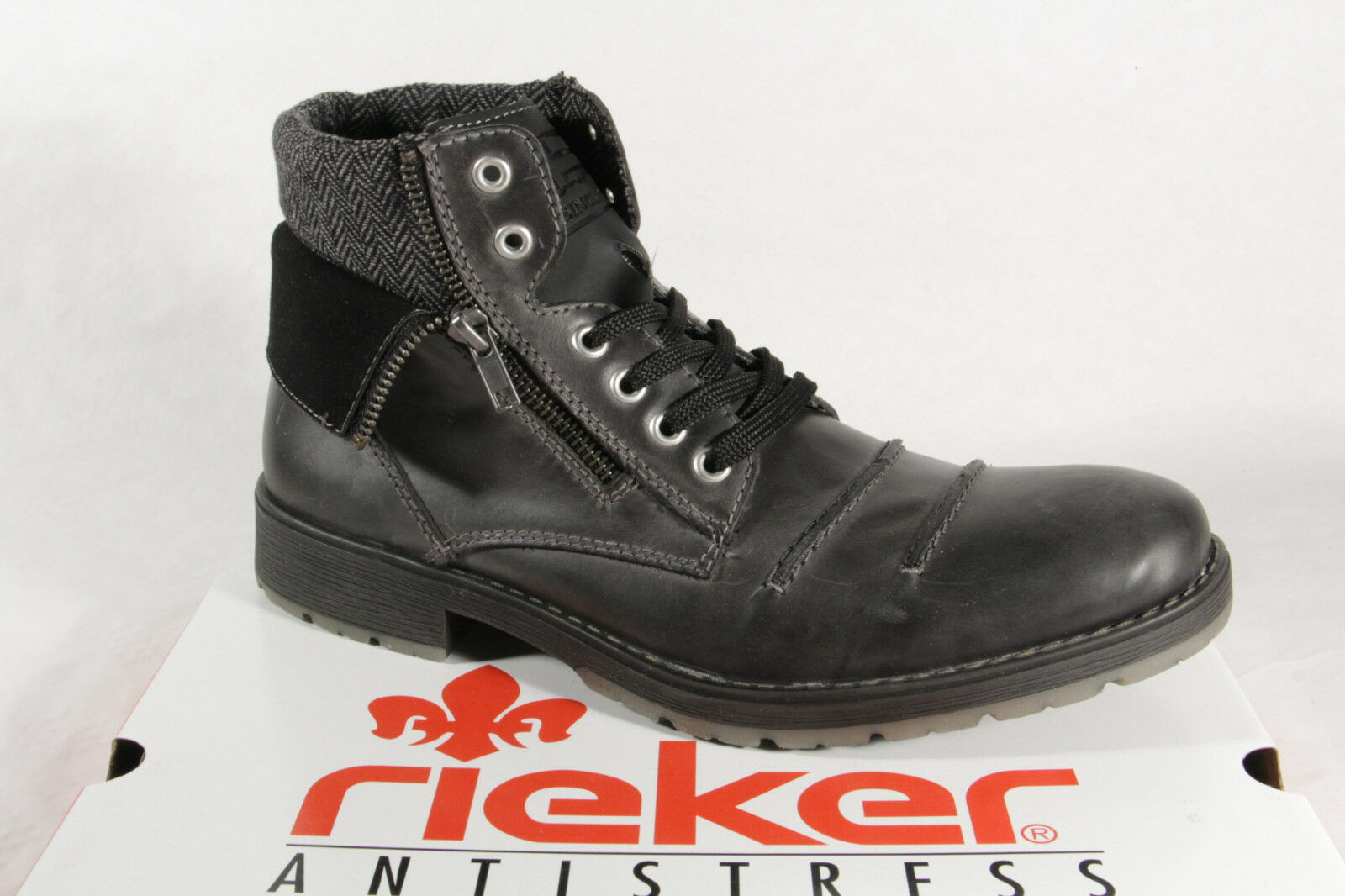 Rieker 33312 Men's Lace Up Boots Genuine Leather NEW