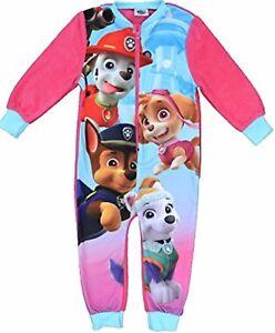0708ba67c3 paw patrol niña Skye Forro Polar Fino Pijama Todo En Uno de bebé AGE ...