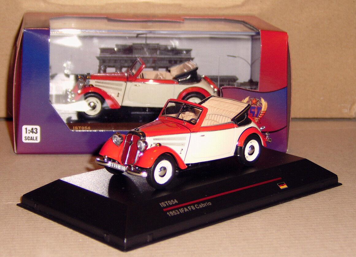IFA F8 F 8 Cabriolet  IST Models Models Models  Rot Beige  1 43  Detailgenau  Neu ohne Folie ea1823