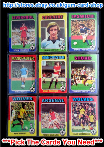 G//F CARDS 169 TO 220 *PLEASE CHOOSE CARD* TOPPS 1975 RED//GREY FOOTBALLERS