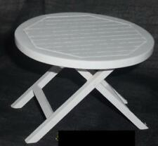 #01# Gartentisch/Tisch,weiß,Maßstab 1:12, Miniatur f.d. Puppenstube/Puppenhaus