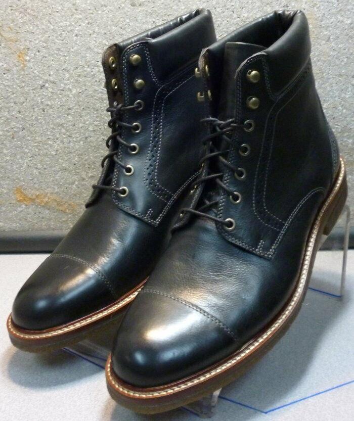 271231 ESBT 50 Chaussures Hommes Taille 10.5 m Noir Bottes en cuir Johnston & Murphy