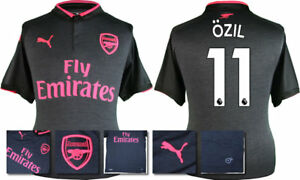 cheap for discount f42d1 afe66 Details about 17 / 18 - PUMA ; ARSENAL 3RD KIT SHIRT SS / OZIL 11 = KIDS