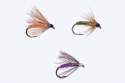 Mallard /& Claret,GR Hares Ear  by Dragonflies 18 Wet Fly Fishing Flies Dunkeld