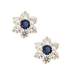 14k-Yellow-Gold-Birthstone-Colors-Flower-Stud-Earrings
