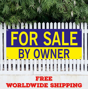 For Sale By Owner Advertising Vinyl Banner Flag Sign Many Sizes Real Estate Ebay