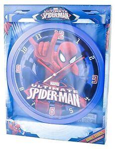 Marvel-034-Ultimative-Spiderman-034-Wanduhr-Kinderuhr-Kunststoff-D-60412114689390