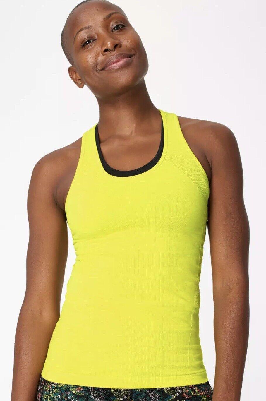 Sweaty Betty Athlete Seamless Gym Vest- Citrus Green- Size S
