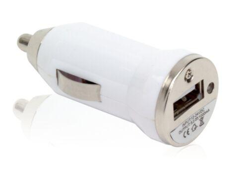 caricabatterie bianco per iPhone e smartph adattatore USB auto ricarica batteria