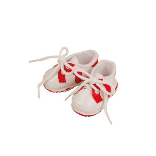 Poupées CHAUSSURES Chaussures De Sport Chaussures 7,5 cm long blanc-rouge Schildkröt 45181 R....