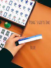BLUE Chinese&American 144 Tiles Mah Jong Set With Portable Mahjong Box FAST SHIP
