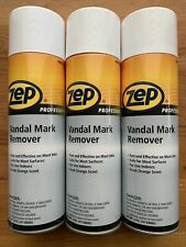 3 X Zep Professional Vandal Mark Remover Cans