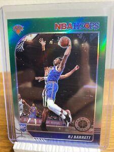 2019-20 NBA Hoops Premium Stock RJ Barrett Green Prizm Silver Rookie