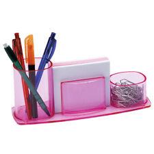 Acrimet Millennium Desk Organizer Pencil Paper Clip Cup Holder With Paper Pink