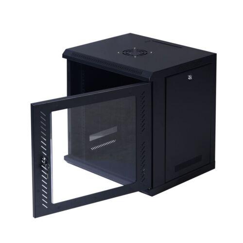 Steel Wall Mount Network Server Data Cabinet Enclosure Rack Glass Door Locking
