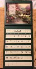 Thomas Kinkade Perpetual Calendar with scripture Changeable Scenes Walnut Creek