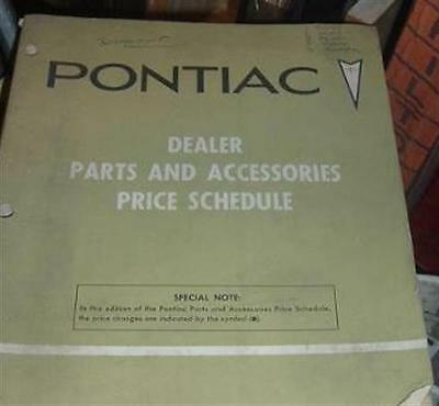 1960 thru 1981 Pontiac parts price group line book