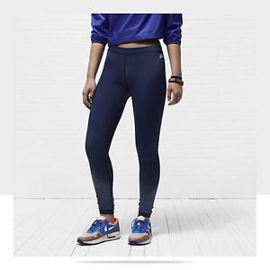New-Nike-SUNSET-Women-039-s-Leggings-535958-M-Hyper-Blue-489-Tights-Pants-Running