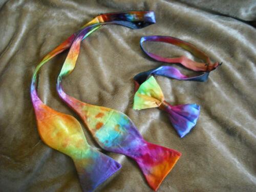 Tie Dye Bowtie Self tie or pre tied Wedding prom formal wear