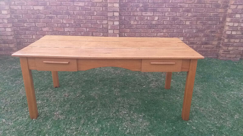 Antique Yellow wood Desk / Table