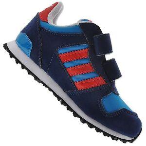 big sale 13e96 1eb06 Details about Adidas Originals Zx 700 Cf Infant Children Baby Boys Shoes  Trainers Blue Red