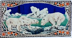 Vintage Polar Bear Tapestry Made in