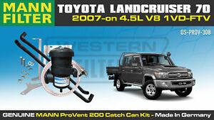 Mann ProVent Oil Catch Can Bracket Kit for Toyota Landcruiser 70 Series 2007-on