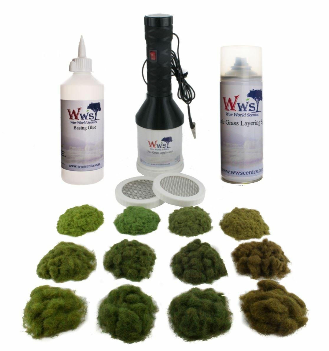 WWS Kit Cuatro Estaciones de hierba estática y peJuegonto - Modelismo ferroviario