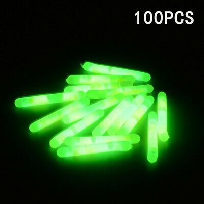 100pcs Fishing Fluorescent Light Stick Luminous Stick Night Float