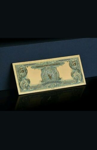 ☆AMAZING DETAIL☆ 《1899 SILVER CERTIFICATE》 INDIAN CHIEF  $5 Rep.*Banknotes