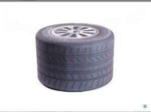 Pouf sgabello gomma auto pneumatico sedia ruota auto tondo ebay
